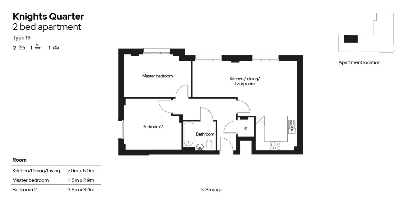 Knights Quarter apartment type 19