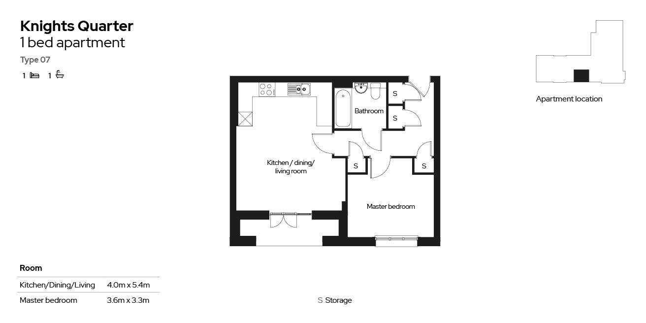 Knights Quarter apartment type 07