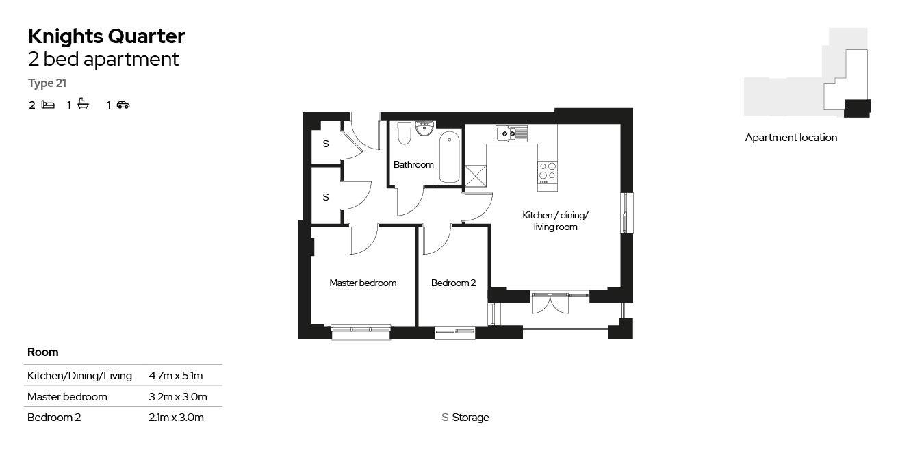 Knights Quarter apartment type 21