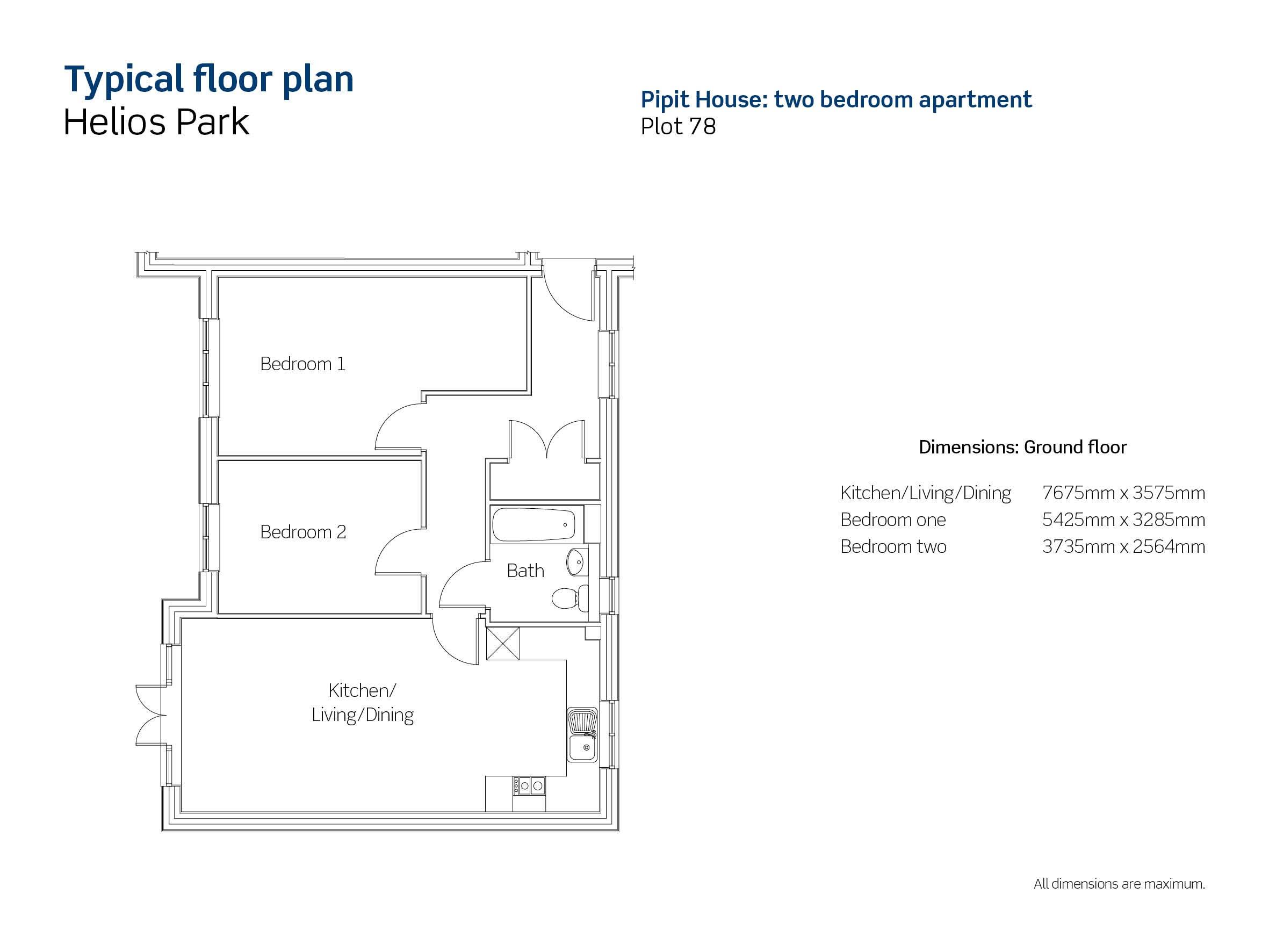 Helios Park plot 78 floor plan
