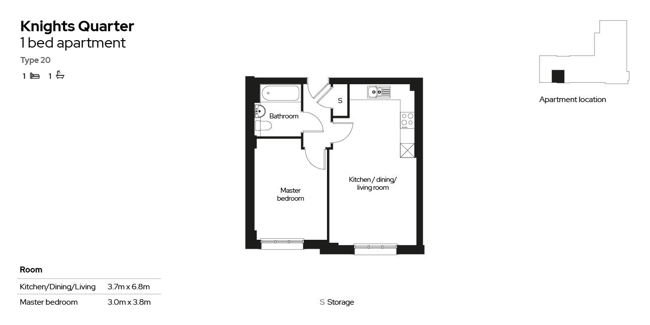 Knights Quarter apartment type 20