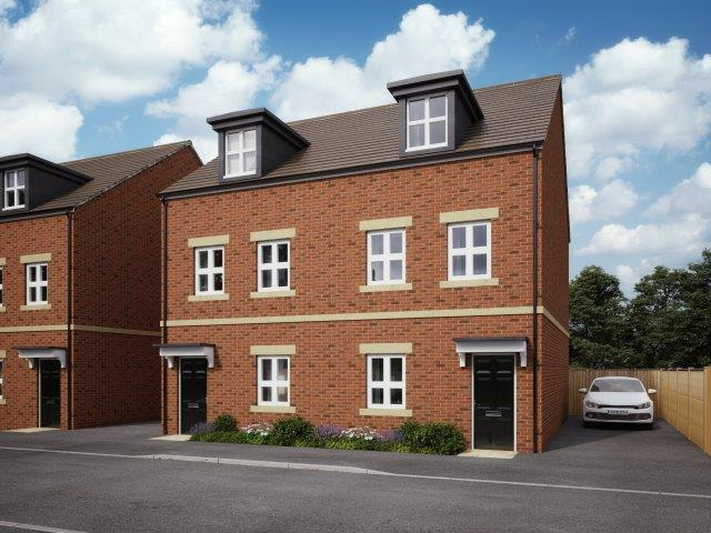 CGI of townhouse at Newbury Racecourse