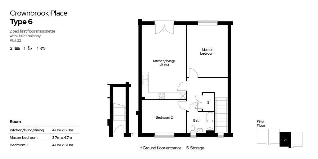 Crownbrook Place, plot 22 floor plan
