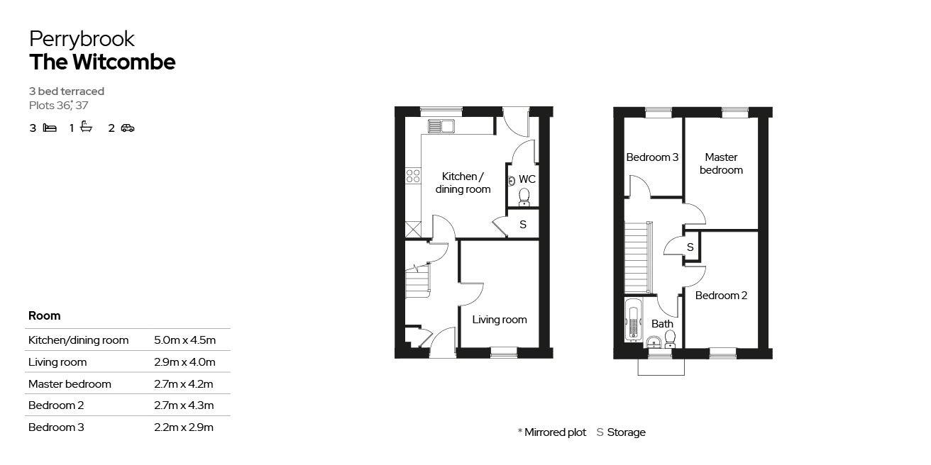 Perrybrook - Plot 36 & 37 floor plan