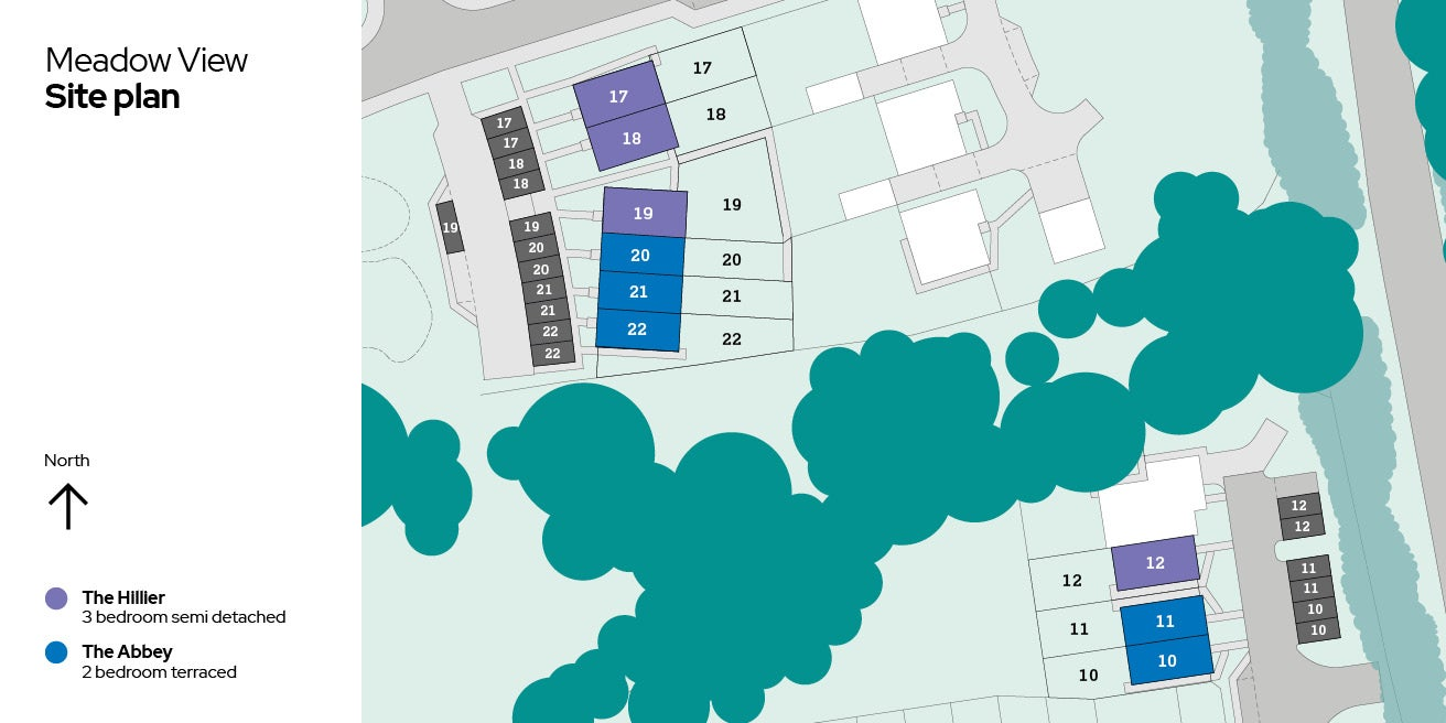 Meadow View, Plots 17 - 22 site plan