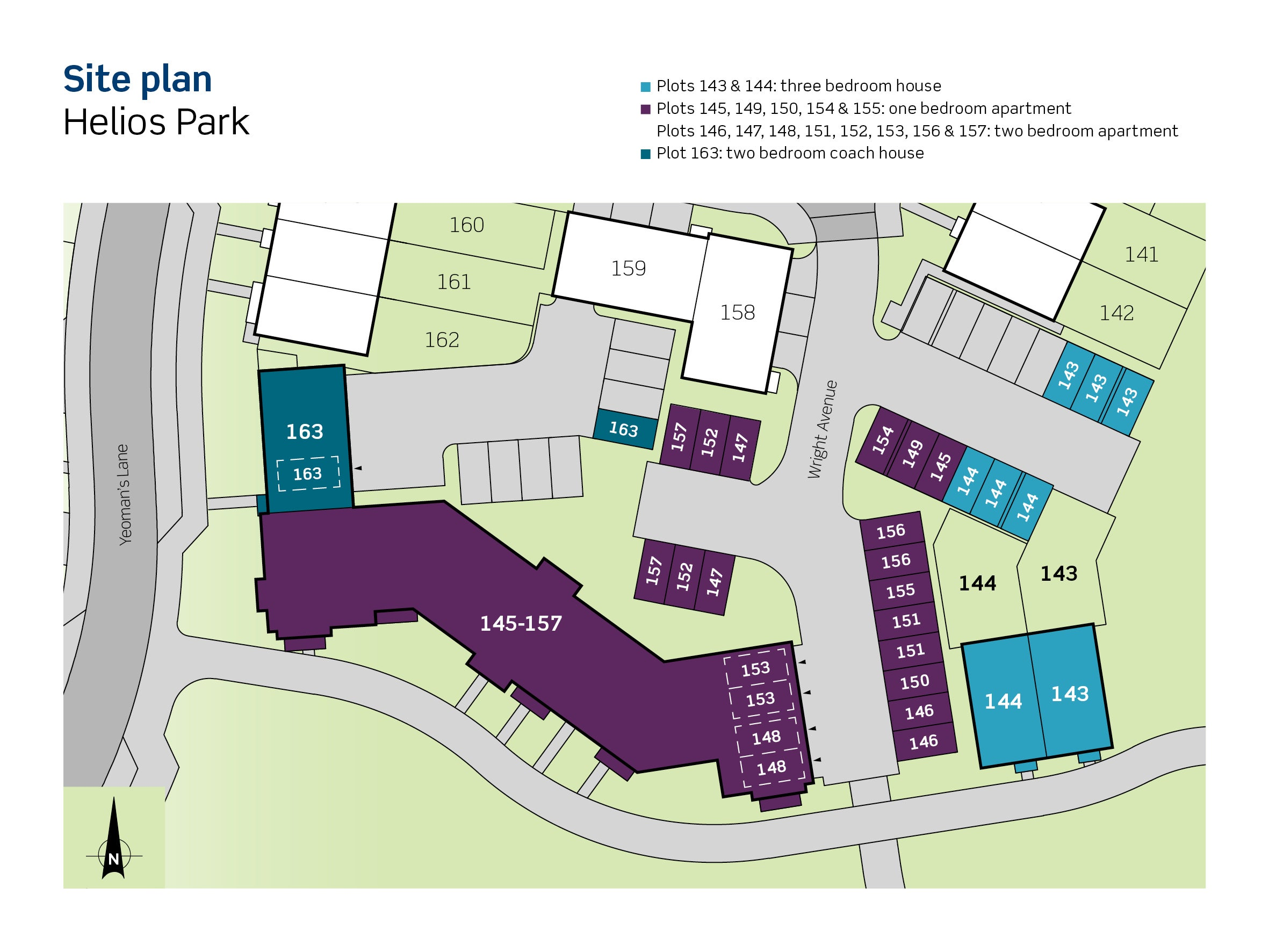 An image of the site and parking plan for Phase 3 at Helios Park