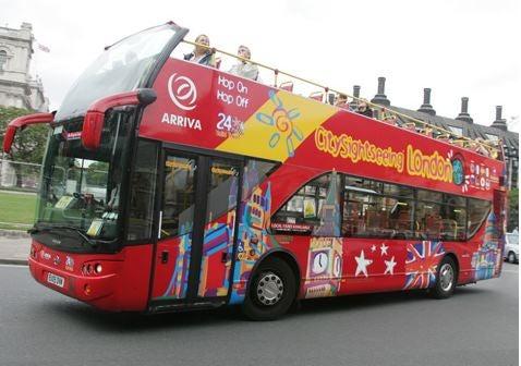 Sightseeing bus Londen