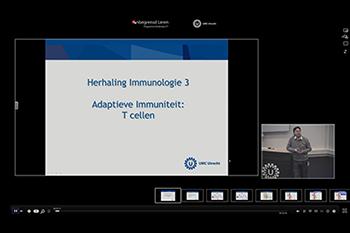 Schermafbeelding van een e-lecture