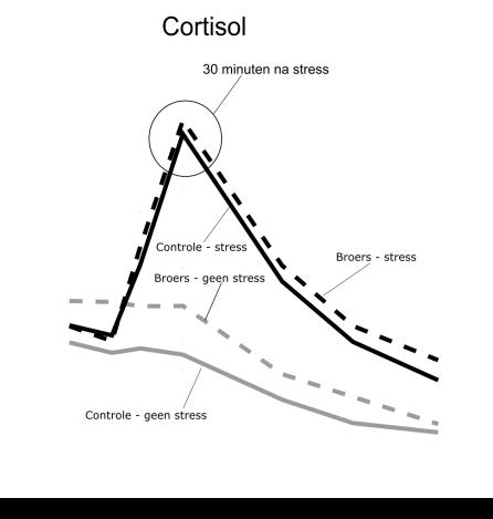 De reactie van cortisol op stress-ervaring