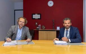 Reinout Schellekens (links), apotheker en directeur Apotheek A15, en András Vermes (rechts), ziekenhuisapotheker & afdelingshoofd van de apotheek van het UMC Utrecht