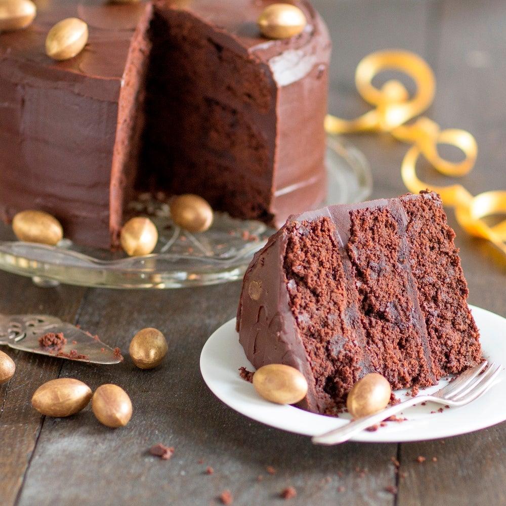 Indulgent Dark Chocolate Cake