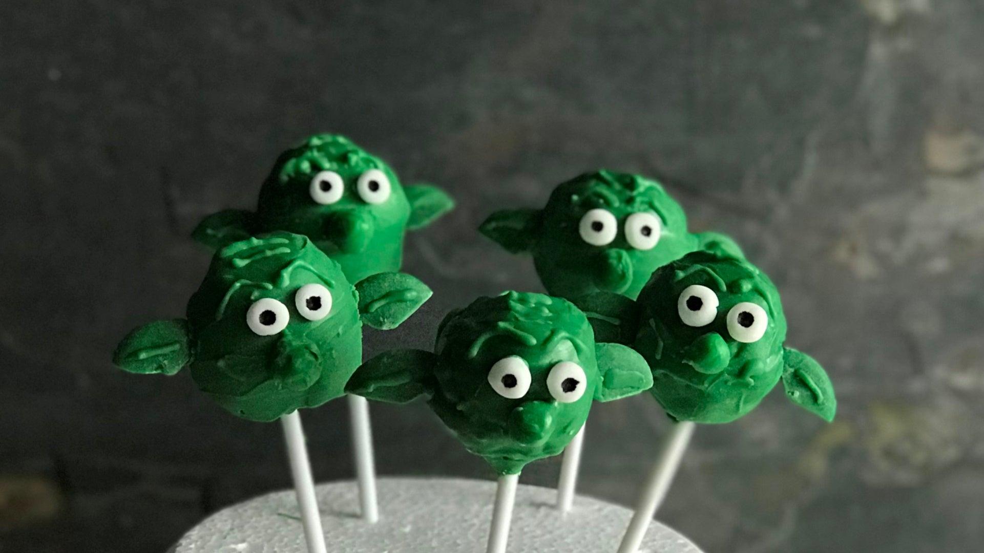Yoda Cake Pops