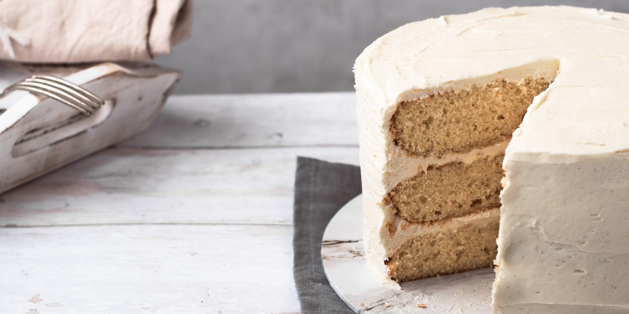Vanilla Cake on a plate