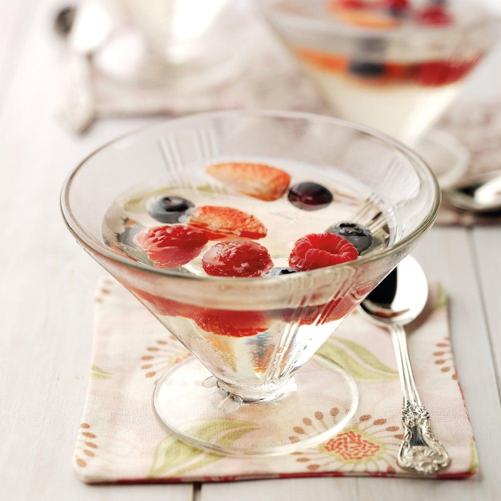 Elderflower, Berry  & Prosecco Jelly