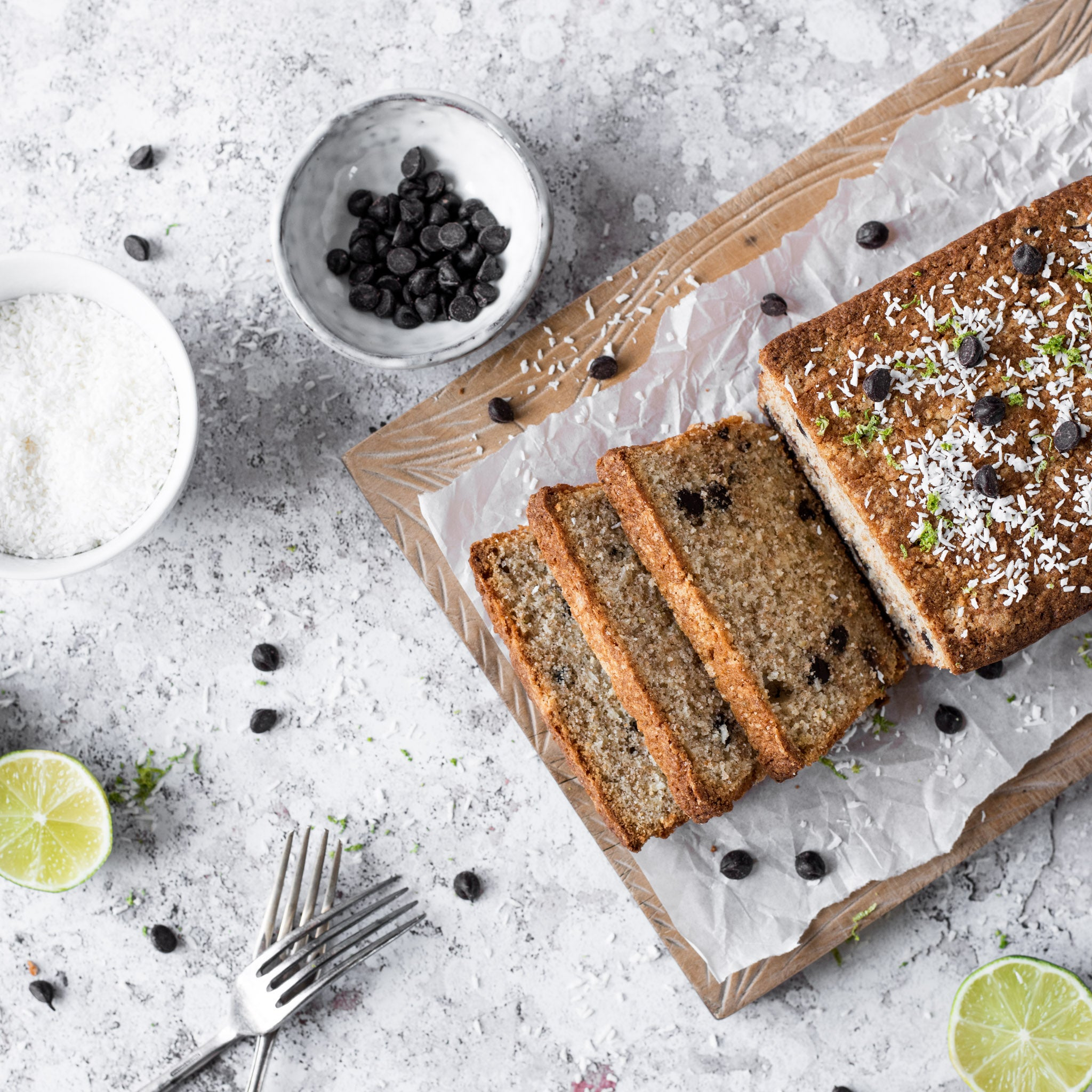 Coconut Lime & Chocolate Loaf