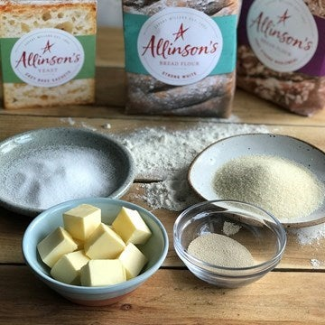 Allinson's flour with yeast and butter