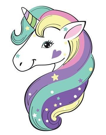 cartoon unicorn head