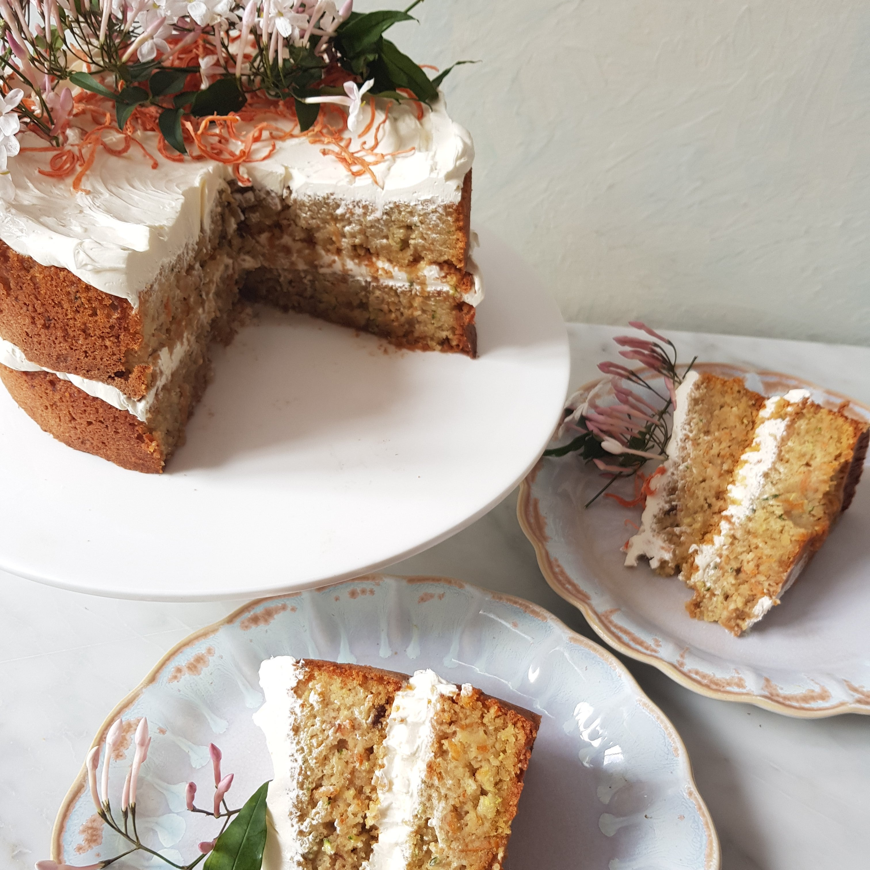 Gluten Free Carrot Courgette Cake
