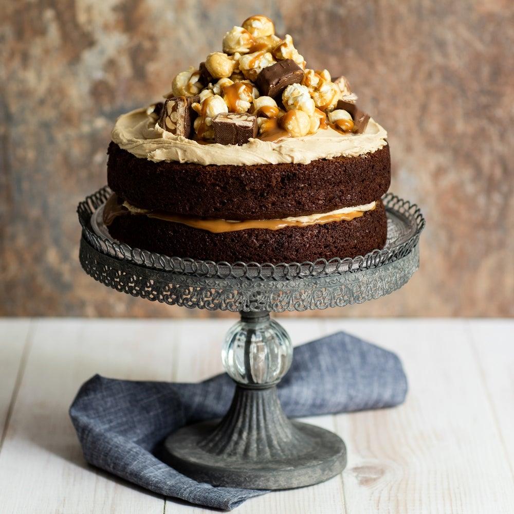 Peanut Butter Caramel Chocolate Cake