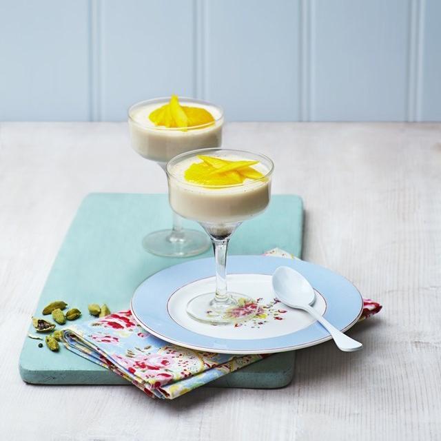 Vanilla Coconut & Cardamom Panna Cotta