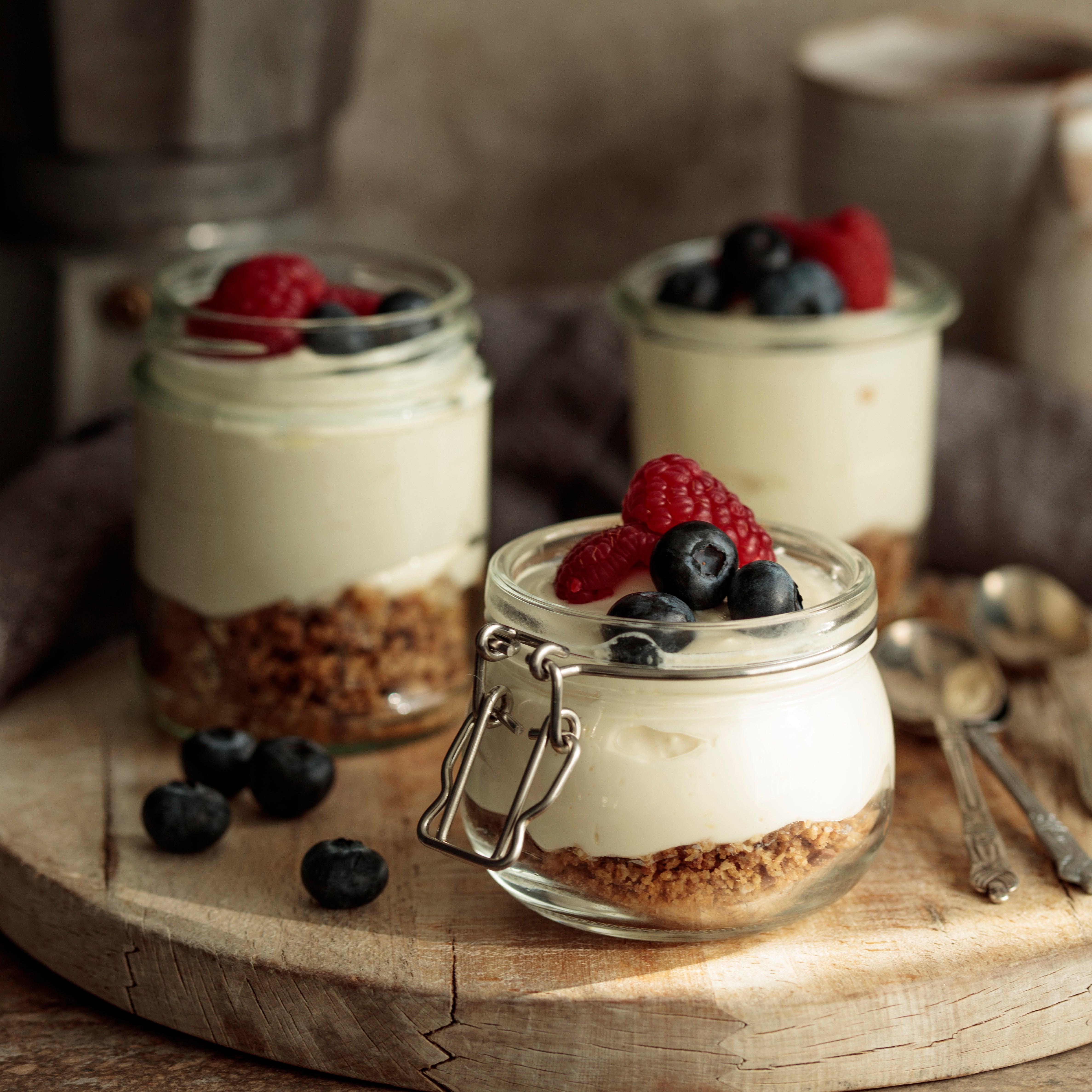 Honey & Berry Cheesecakes