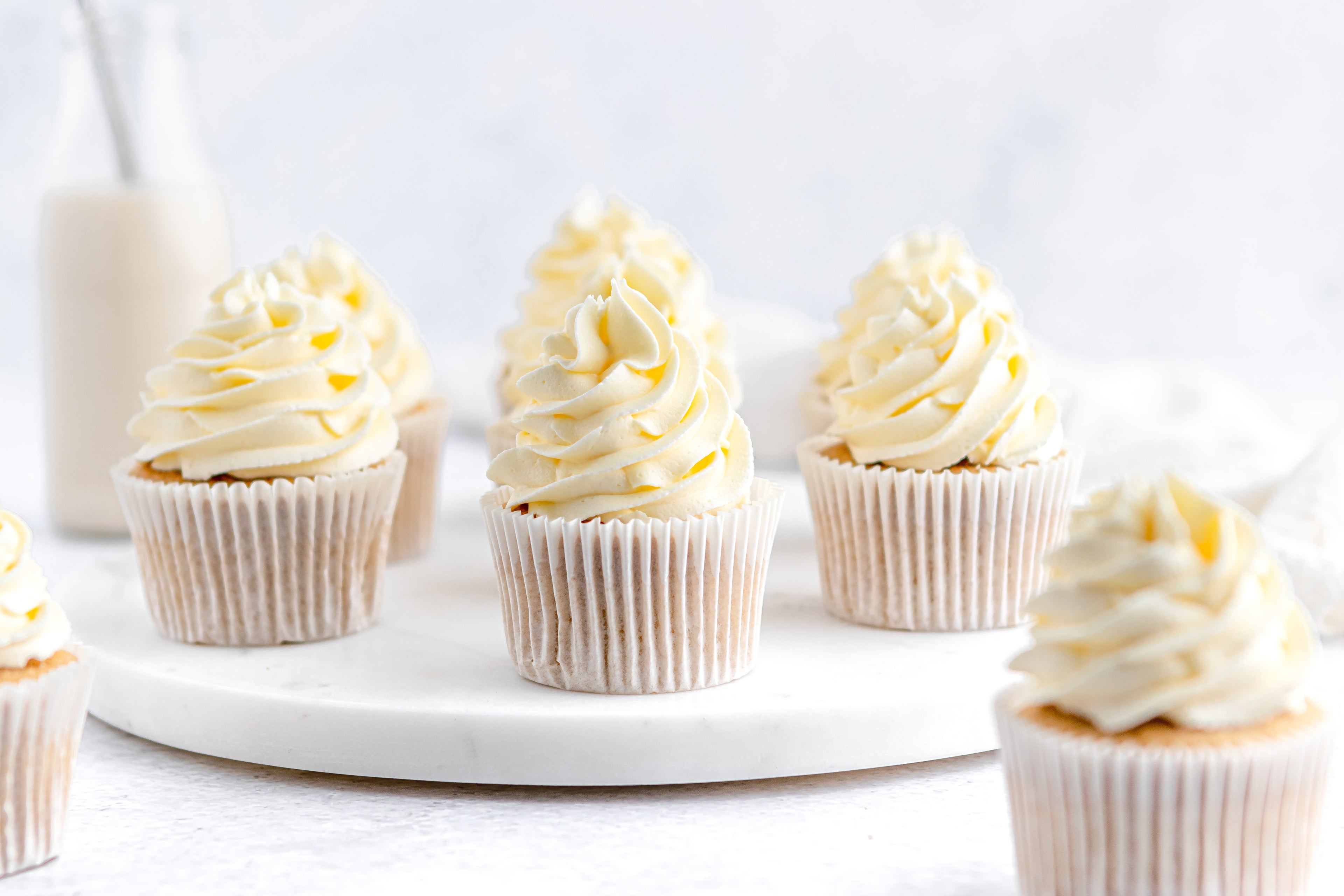 Close up of Gluten Free Cupcakes with buttercream