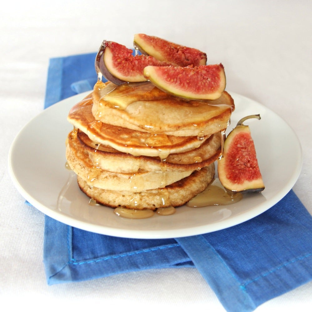 Buttermilk Pancakes with Figs & Honey