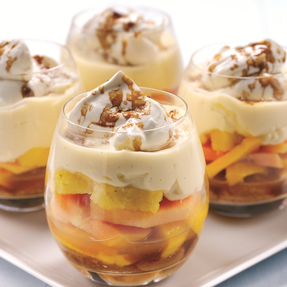 Pineapple Tropical Fruit Trifle