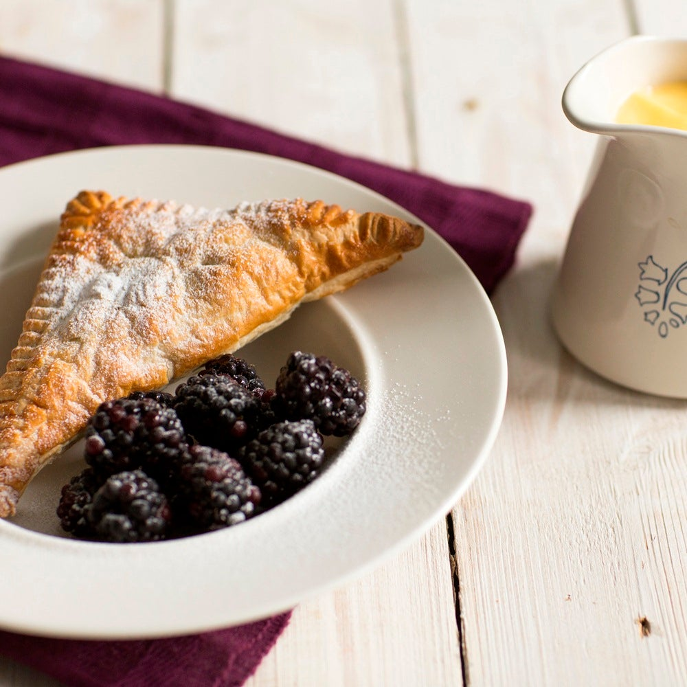 Apple and blackberry turnovers