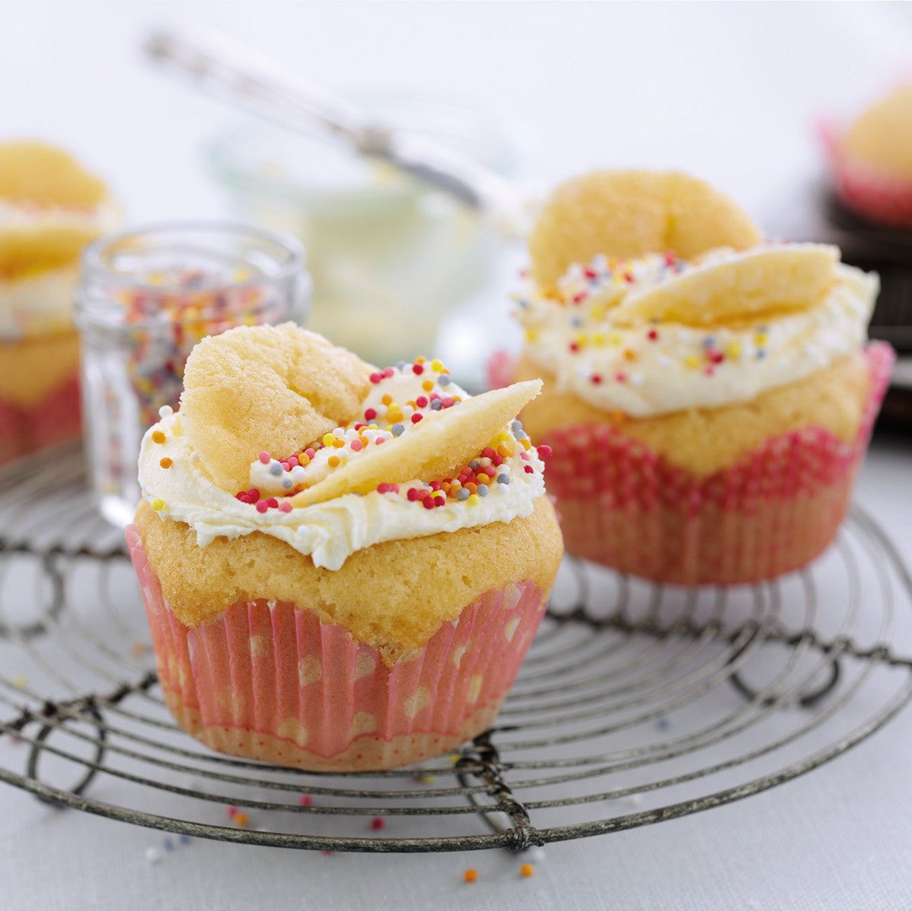 St Clements butterfly cakes