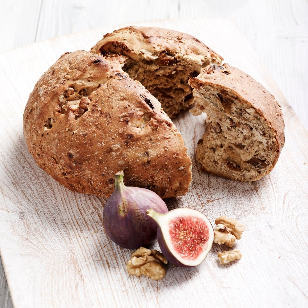 Walnut and fig country grain loaf