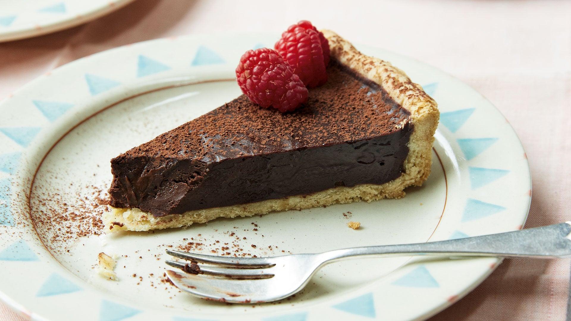Vegan Chocolate Raspberry Tart