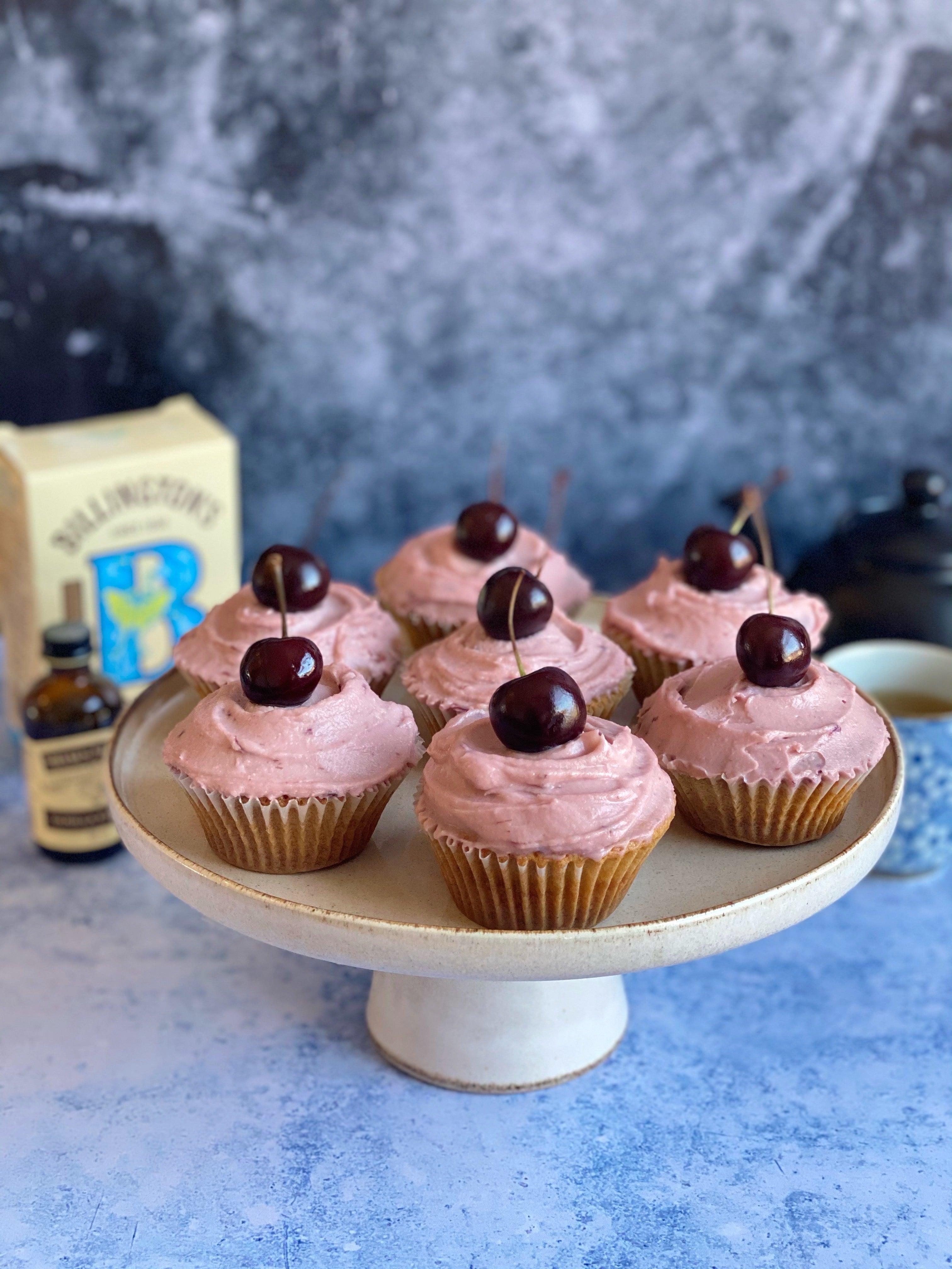 Cherry and Pistachio Cupcakes