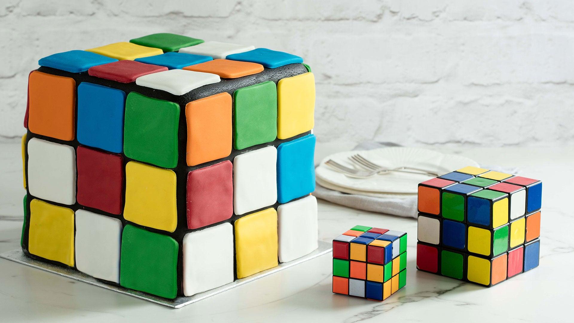 Rubix Cube Illusion Cake