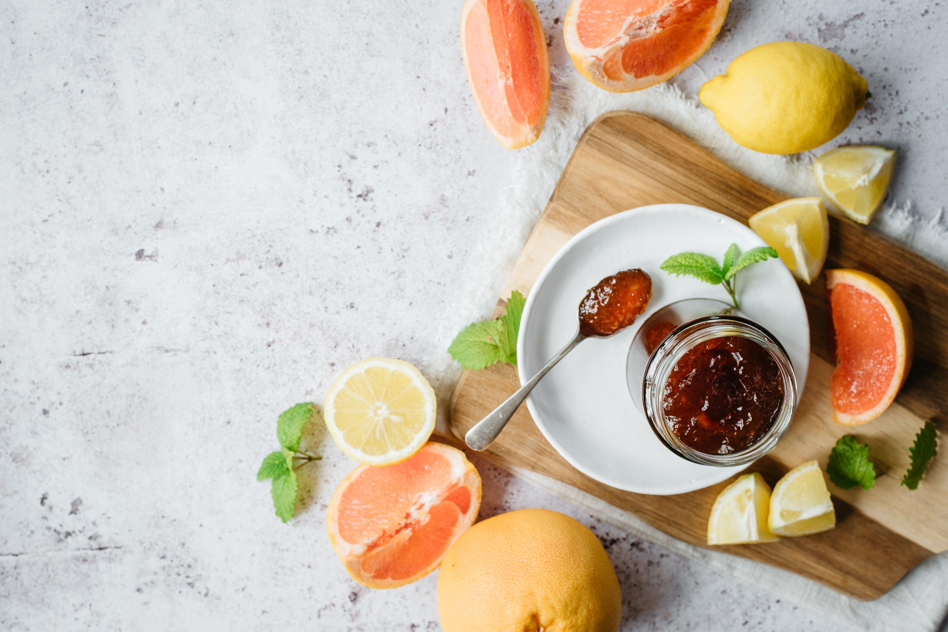 Grapefruit Lemon Marmalade in a jar