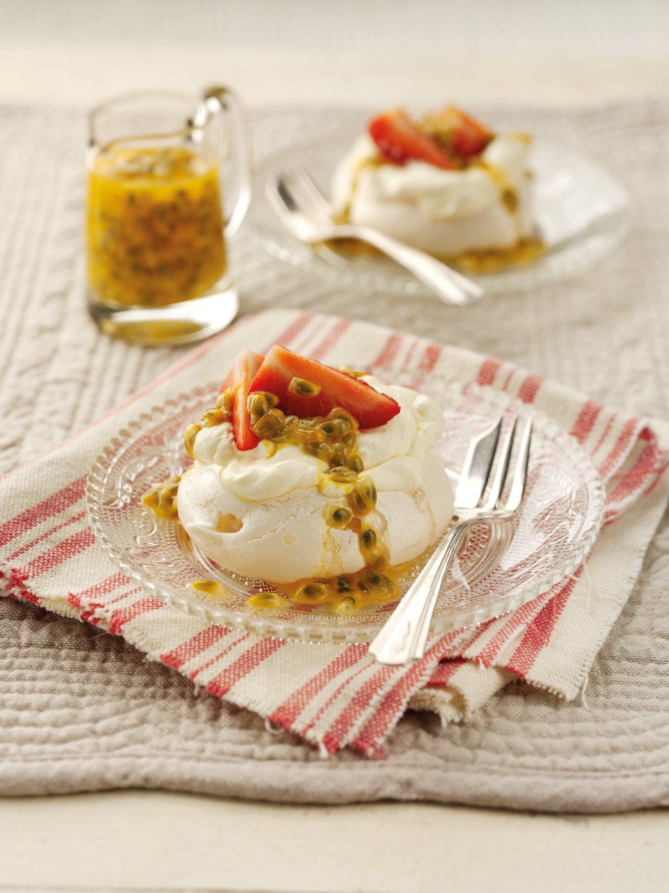 Meringues with Vanilla & Passionfruit