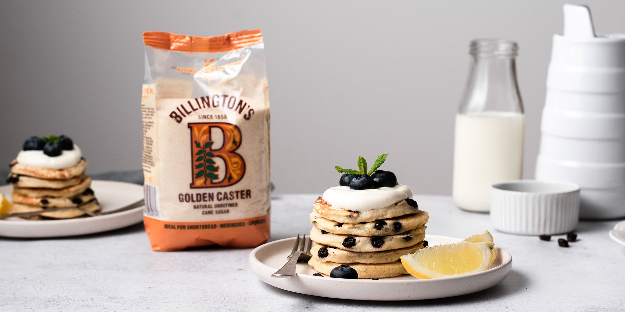 Lemon and Raisin Pancakes stacked