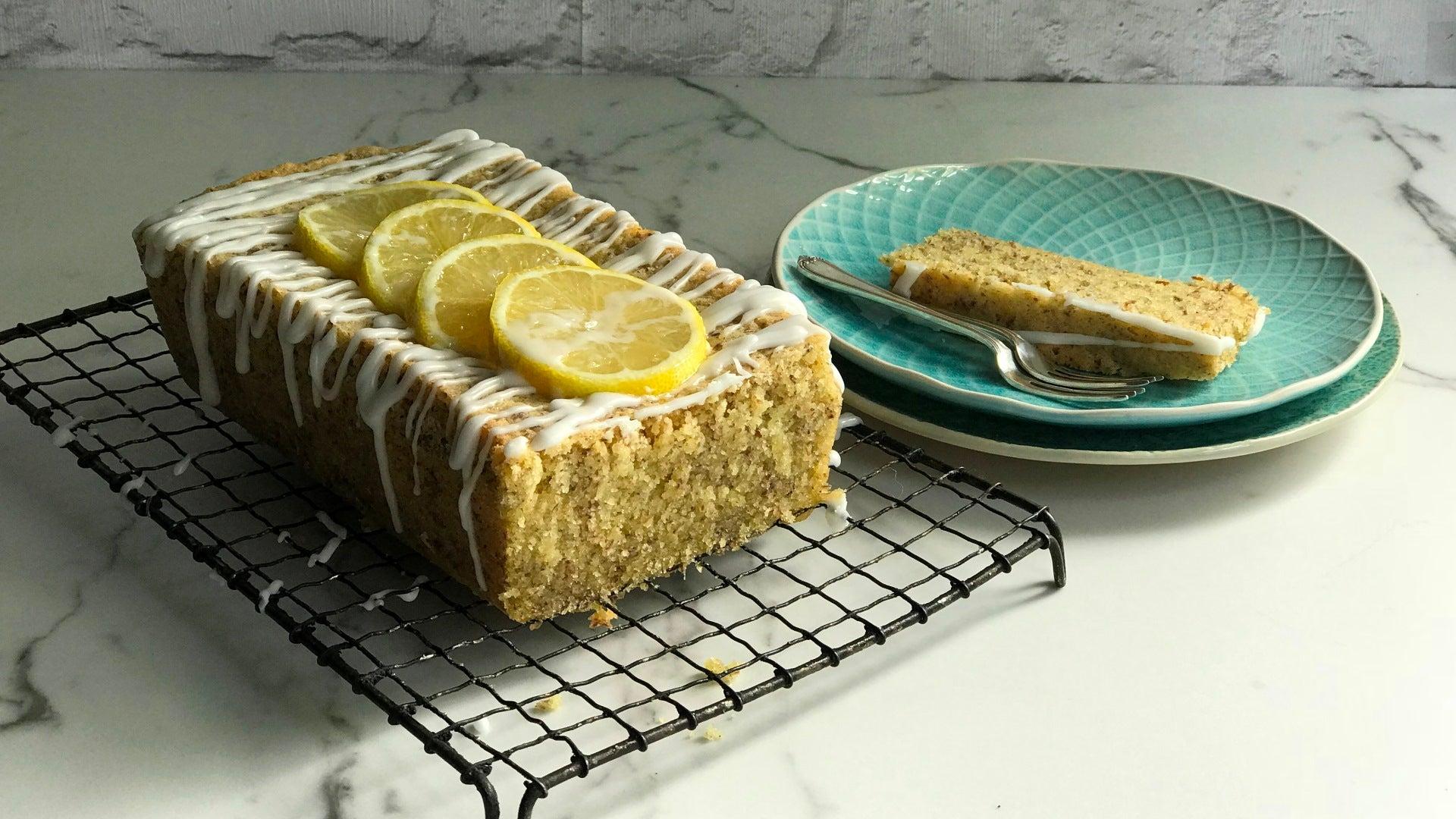Gluten Free Vegan Lemon Drizzle Cake