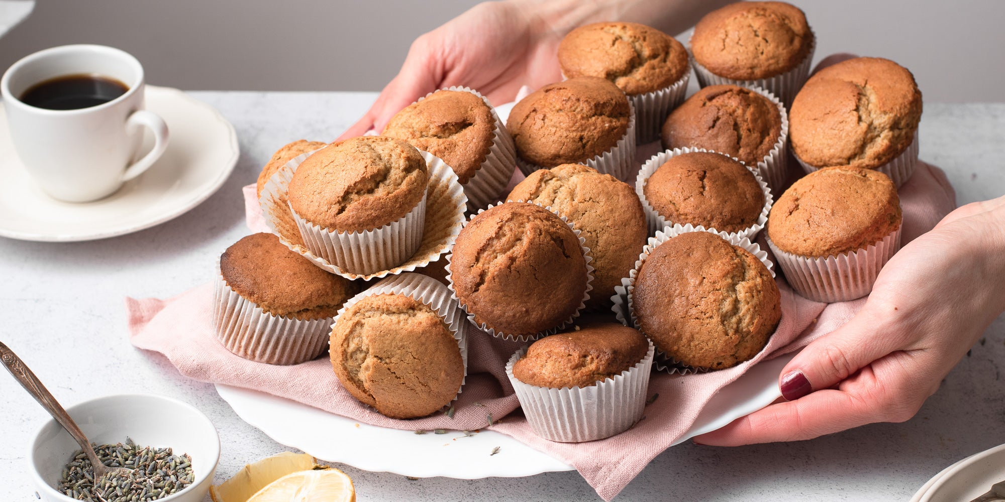 Pile of muffins