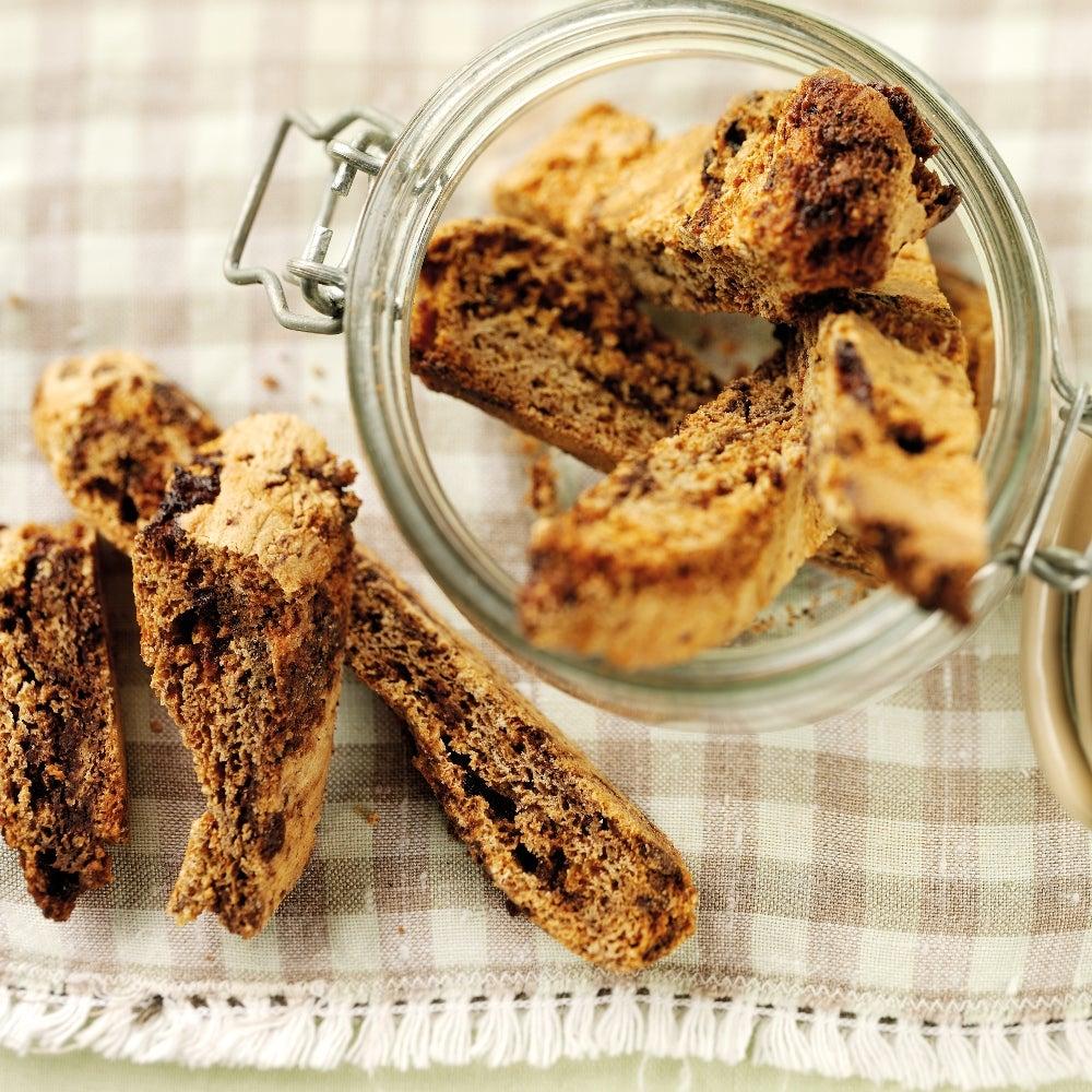 Honeycomb & Milk Chocolate Biscotti