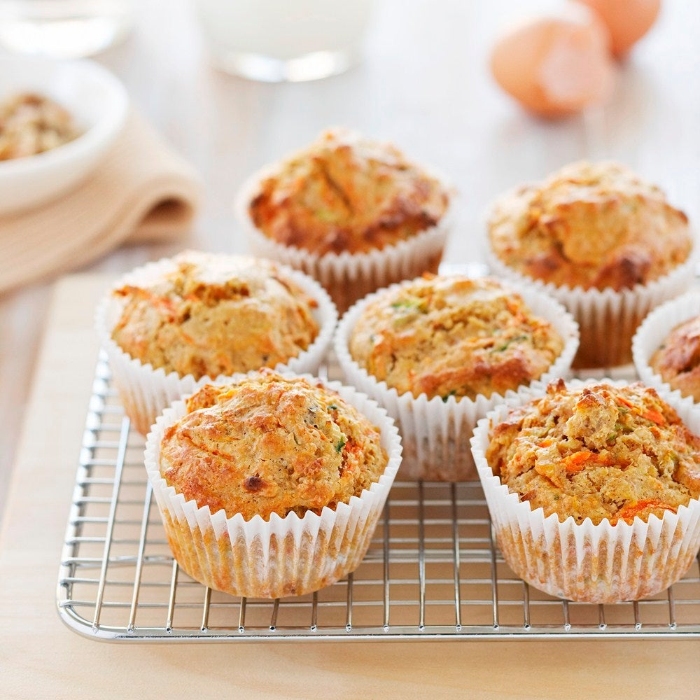 Breakfast Carrot & Courgette Muffins