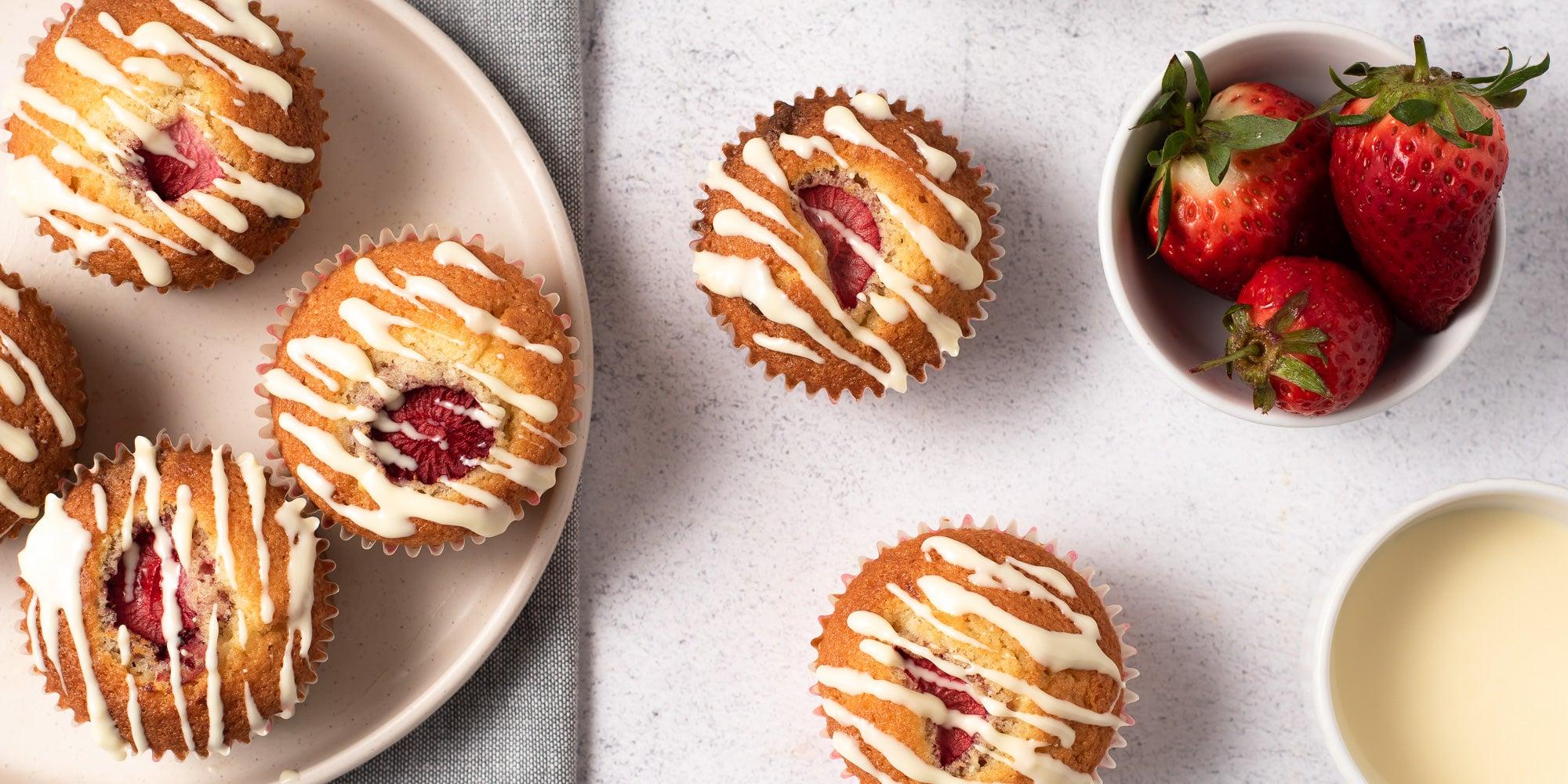 Strawberry Centre Muffins