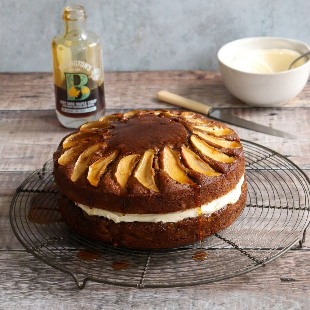 Maple Sticky Toffee Apple Cake