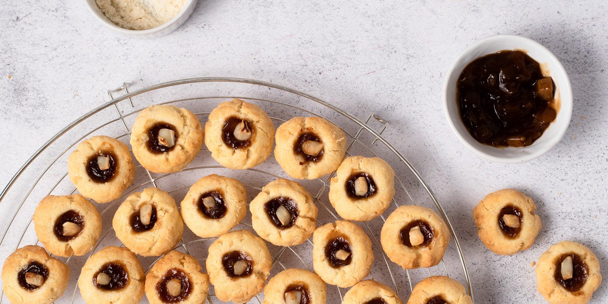 Savoury Parmesan Thumbprint Biscuits