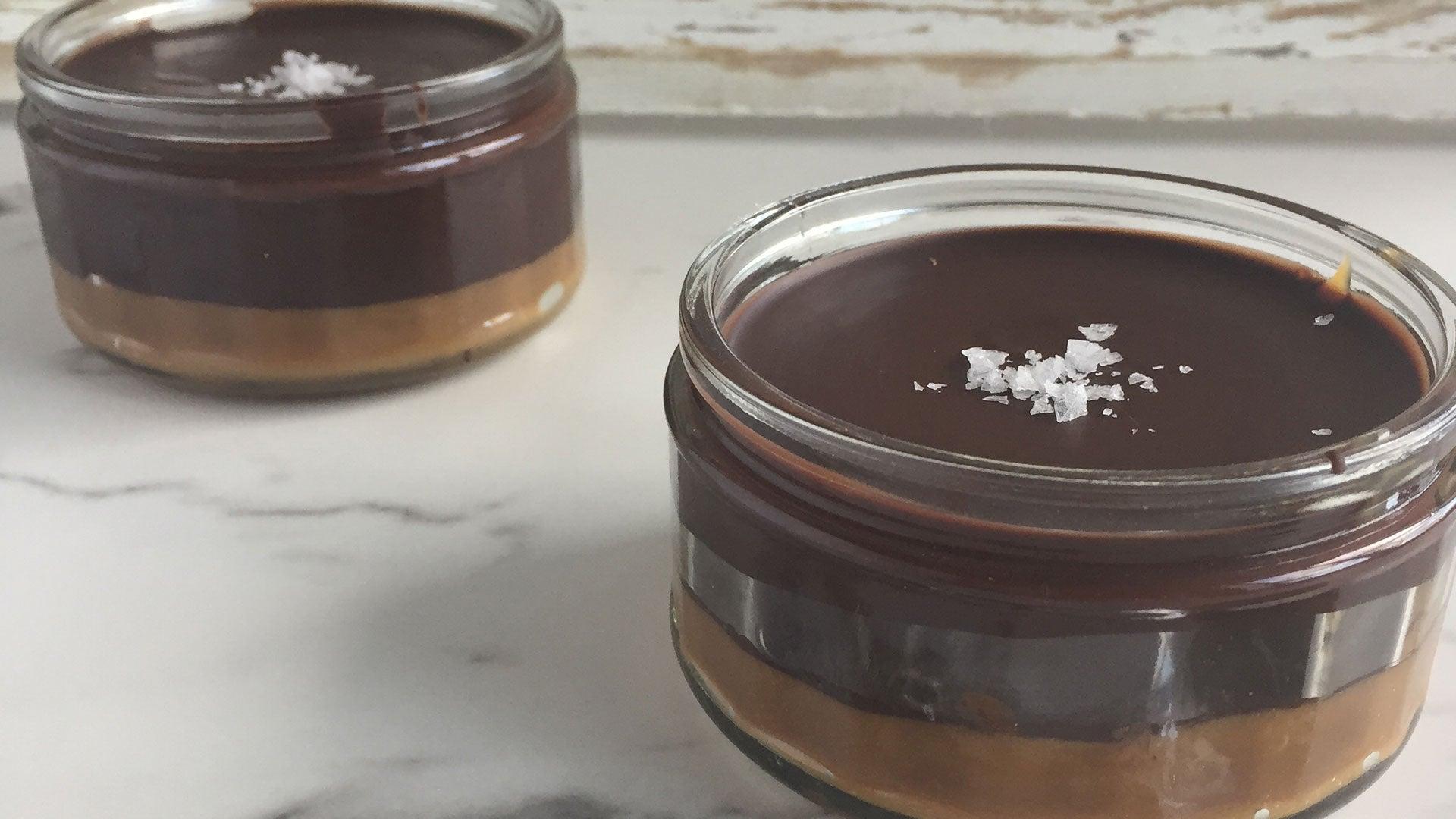 Salted Caramel Chocolate Pots