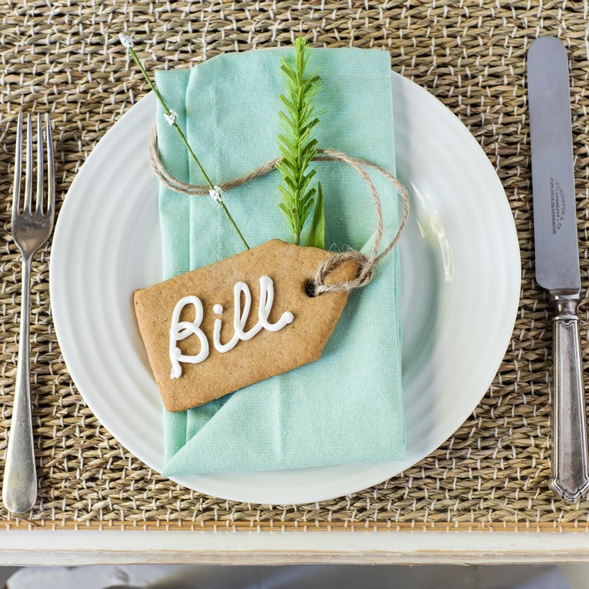 Gingerbread Place Settings