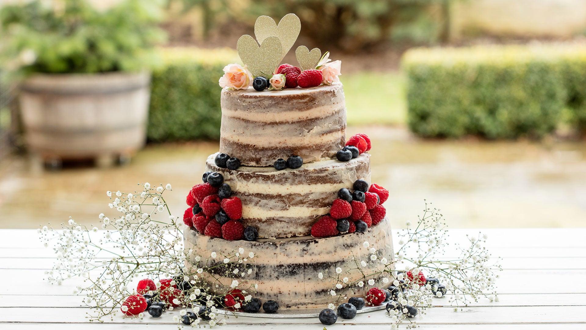 Naked Vanilla Celebration Cake