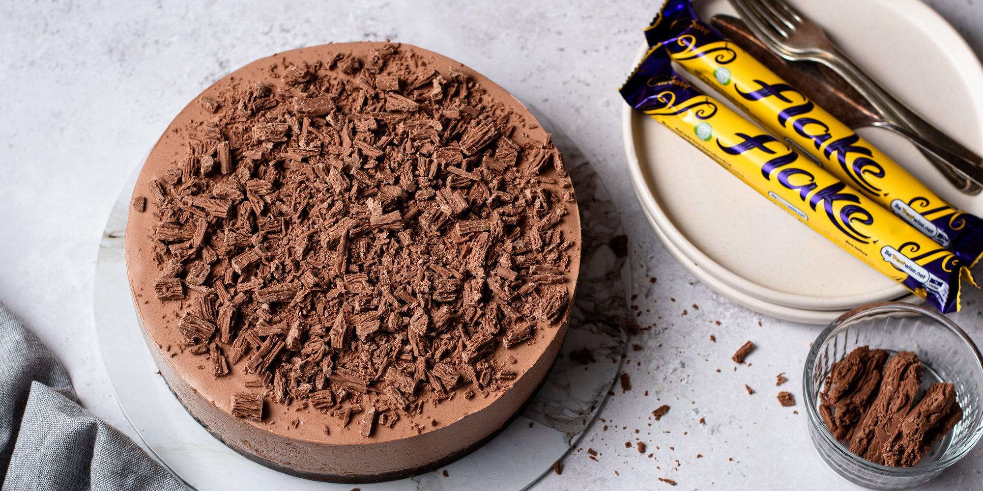 No bake chocolate flake cheesecake