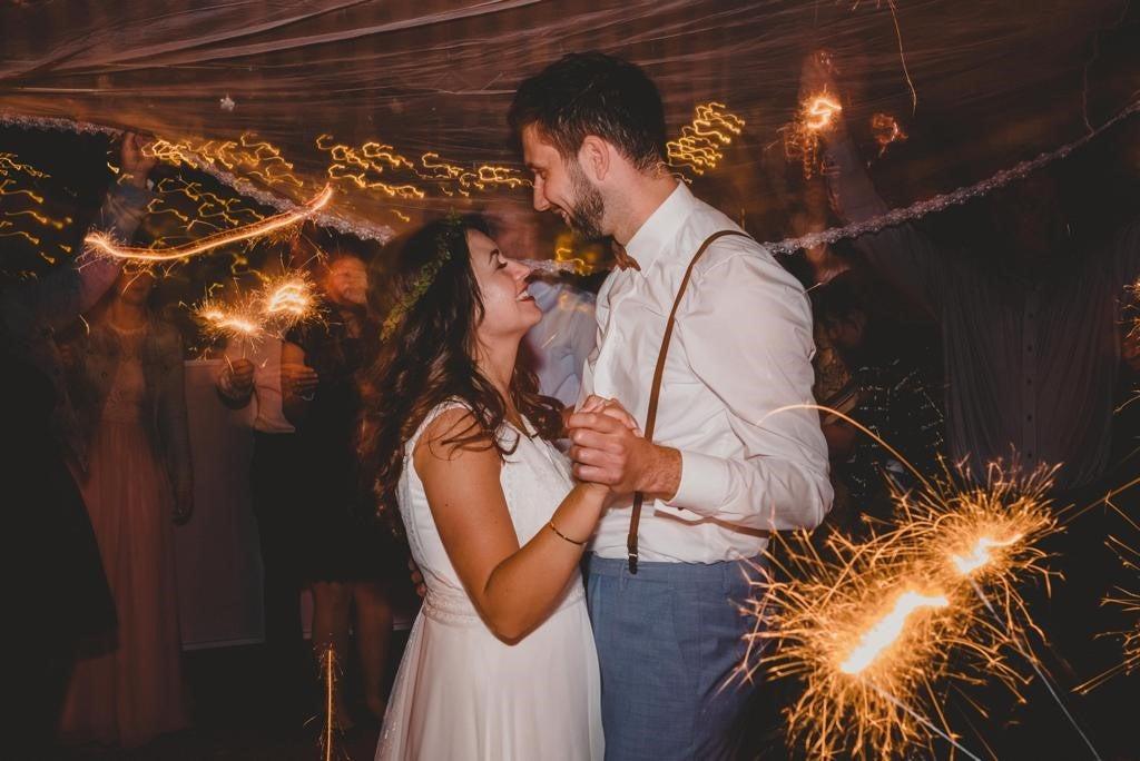 Ina und Jens bei ihrer Hochzeit