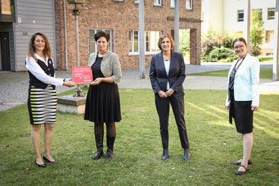 Simone Kopp (OSZ I Barnim), Bianca Düring, Britta Ernst, Konstanze Burkard